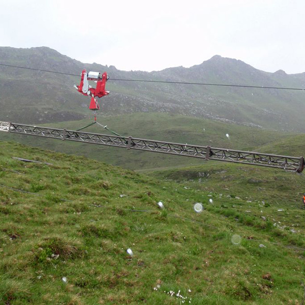 Intelligent mobile freight ropeway